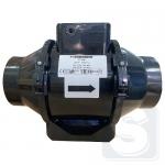 Домовент ТТ 150 канальный вентилятор, цвет черный (аналог Вентс ТТ 150)