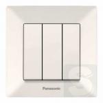 Вимикач трьохклавішний, крем Panasonic Arkedia Slim 0015-2BG (480300037)