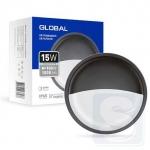 LED светильник GLOBAL 15W 5000K круг графит (1-GBH-07-1550-C)