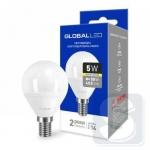 LED лампа GLOBAL G45 F 5W мягкий свет 220V E14 AP (1-GBL-143)