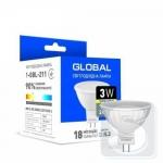 Лампа светодиодная GLOBAL MR16 3W 3000K 220V GU5.3