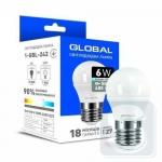 Лампа светодиодная GLOBAL G45 6W 4100K 220V E27