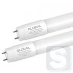 Лампа светодиодная T8 GLOBAL 600mm 8W 6500K G13 glass