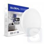 Накладной светильник GLOBAL 18W 4100К (защита IP44) круг (1-GCL-1841-01-C)