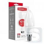 LED лампа MAXUS C37 CL-F 4W яркий свет 220V E14 (1-LED-5312)