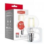 LED лампа MAXUS G45 FM 4W теплый свет 220V E14 (1-LED-547-01)