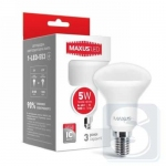 LED лампа MAXUS R50 5W мягкий свет 220V E14 (1-LED-553)