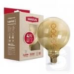 Лампа світлодіодна G125 FM 4W 2200K 220V E27 Vintage (1-LED-7125)