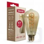 Лампа світлодіодна ST64 FM 4W 2200K 220V E27 Vintage (1-LED-7164)
