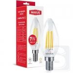 LED лампа Maxus C37 FM 7W 2700K 220V E14 Clear