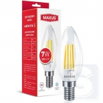 LED лампа Maxus C37 FM 7W 4100K 220V E14 Clear
