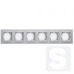 Рамка 6-ая универсальная (гориз./вертик. монтаж) Mono Despina серебро (102-210000-166)