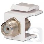 Разъем ТВ/САТ типа KeyStone, 11017001 Hager
