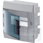 Щиток внутренний на 6 модуля ABB Mistral41 с прозрачной дверцей (1SLM004100A1201)