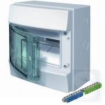 Шкаф электрический на 8 модулей IP65 Mistral прозрачные двер + клемма (1SLM006501A1201)