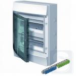 Шкаф электрический на 24 модулей IP65 Mistral прозрачные двер + клемма 22 подключения (1SLM006501A1204)