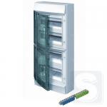 Шкаф электрический на 48 модулей IP65 Mistral прозрачные двер + клемма (1SLM006501A1207)