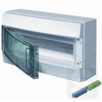 Шкаф электрический на 18 модулей IP65 Mistral прозрачные двер + клемма (1SLM006502A1203)