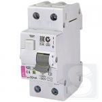 Дифавтомат 2p 10А/30мА тип AC 10kA ETI KZS-2M