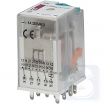 Реле электромеханическое ERM4-024DC 4CO 24V DC 6А AC1 ETI (2473006)