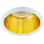 Светильник точечный Kalnux Spag D W/G, Gx5.3/GU10, IP20, белый/Золото,  27327