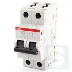 Автоматический выключатель ABB (S202-C6) тип C 6A 2CDS252001R0064