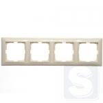 Рамка на 4-поста Abb Basic 55 2514-92-507 слоновая кость