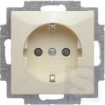 Розетка с заземлением и шторками Abb Basic 55 20 EUCKS-92-507 слоновая кость