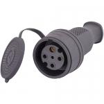 Каучуковый штепсельная вилка с заглушкой IP44 Lezard (332-0100-0203)
