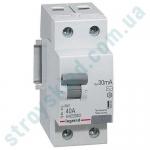 Дифавтомат 16A 1+N 30mA (0.03A) 6kA тип AC 419399 Legrand RX3 2-полюсный