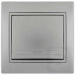 Выключатель одноклавишный LEZARD Mira серый металлик (701-1010-100)