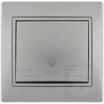 Кнопка звонка LEZARD Mira серый металлик (701-1010-103)
