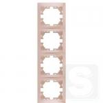 Рамка 4-ая вертикальная LEZARD Mira жемчужно-белый (701-3000-154)