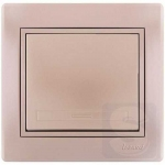 Выключатель одноклавишный LEZARD Mira жемчужно-белый (701-3030-100)
