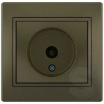 Розетка ТВ проходная LEZARD Mira светло-коричневый (701-3131-129)