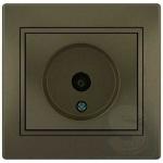 Розетка ТВ конечная LEZARD Mira светло-коричневый (701-3131-130)