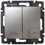 Вылючатель жалюзи с механической блокировкой Legrand Valena 770104 алюминий