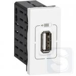Механизм розетки USB одинарна 5В-750мА Legrand Mosaic Белый (77591)