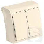 Выключатель 2 клавишный крем ViKO Vera (90681202)