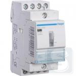 Контактор с ручным управлением 25 A 230В 4НО Hager ERC425