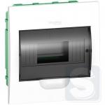 Щит пластиковый встраиваемый 1 ряд 8 модулей Schneider Easy9 EZ9E108S2F черная прозрачная дверь