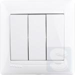 Выключатель трехклавишный LEMANSO Сакура белый LMR1008
