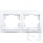 Рамка 2-постовая LEMANSO Сакура белая горизонтальная LMR1011