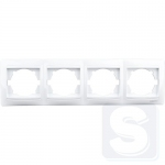 Рамка 4-постовая LEMANSO Сакура белая горизонтальная LMR1013