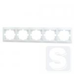 Рамка 5-постовая LEMANSO Сакура белая горизонтальная LMR1031