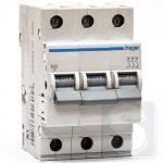 Автоматический выключатель 10 А, трехфазный, уставка В, MB310A Hager