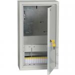 Щит металлический на 12 модулей наружный + трехфазный счетчик ЩУРн-1/12з-0 У2 IP54 IEK