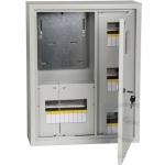 Щит металлический на 18 модулей наружный + трехфазный счетчик ЩУРн-3/18зо-1 36 УХЛ3 IP31 IEK