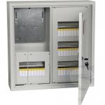 Щит металлический на 36 модулей наружный + трехфазный счетчик ЩУРн-3/36зо-1 36 УХЛ3 IP31 IEK