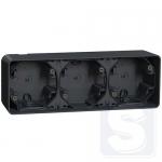 Накладная коробка для 3 механизмов Mureva Styl IP55 Графит